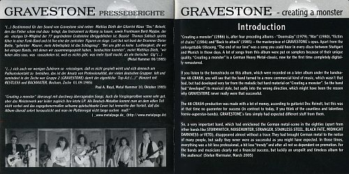 Gravestone - Creating a Monster (1986)