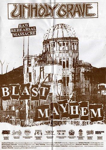 Unholy Grave - Blast Mayhem (St. Grave; 2011 Deathmutt Rec's, Gu'ide Stuff, Chey Clothing, Malaysia)