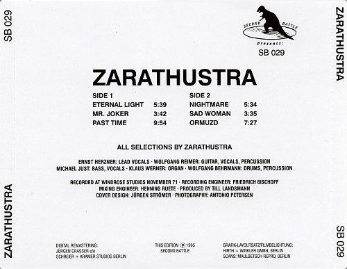Zarathustra - Zarathustra (1971)