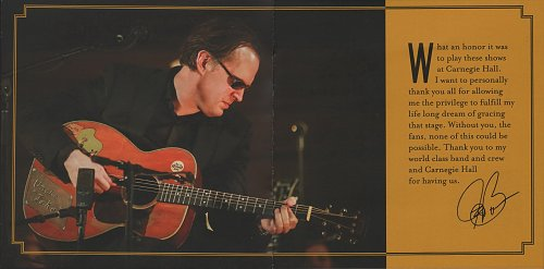 Joe Bonamassa - Live At Carnegie Hall. An Acoustic Evening (2017)