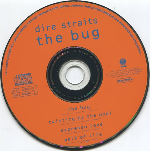 Dire Straits - The Bug (1992, CDS)