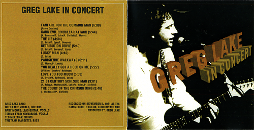 Greg Lake with Gary Moore - In Concert (1981)