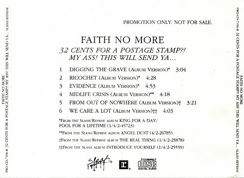 Faith No More - 32 Cents For A Postage Stamp?! My Ass! This Will Send Ya... (1995)