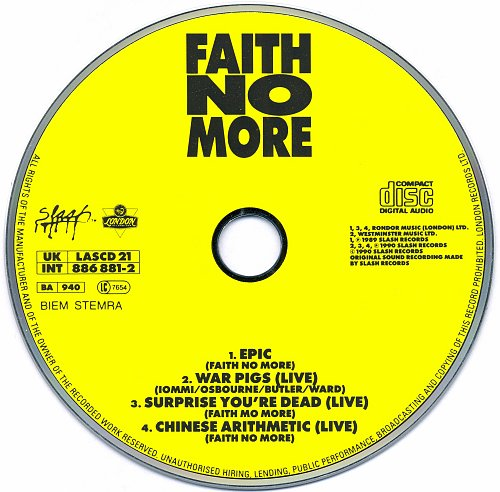Faith No More - Epic (CDS) (1989)