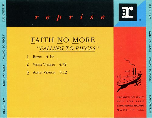 Faith No More - Falling To Pieces (CDS) (1989)