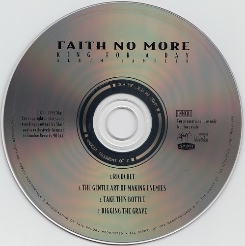 Faith No More - King For A Day (Album Sampler) (Promo) (1995)