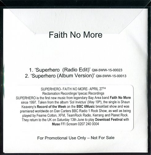 Faith No More - Superhero (CDS) (2015)