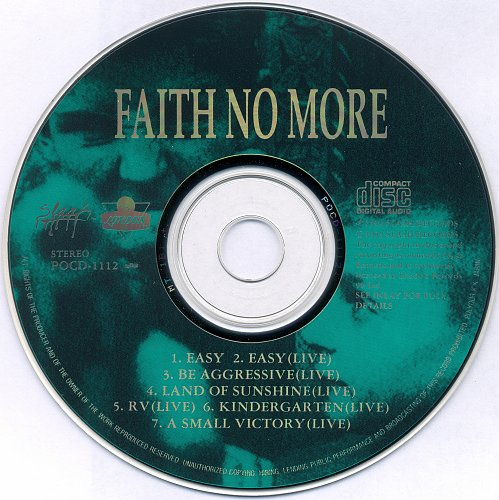 Faith No More - I'm Easy / Be Aggressive (CDS) (1992)