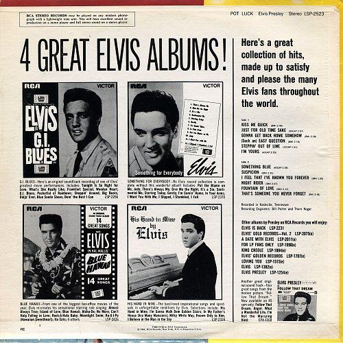 Elvis Presley - Pot Luck (1962) Reissue 1976