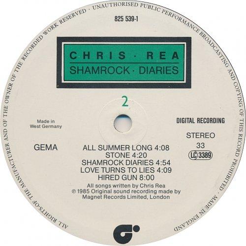 Chris Rea - Shamrock Diaries