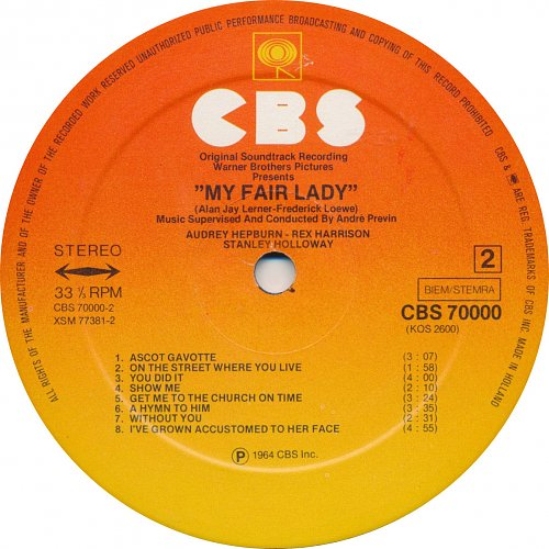 My Fair Lady (The Original Sound Track Recording)