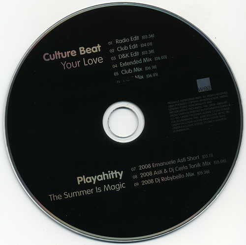 Culture Beat - Your Love & The Summer Is Magic (2008)