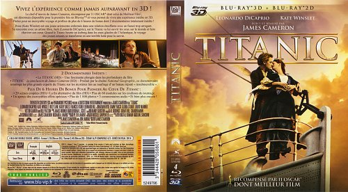 Titanic Blu-ray 1997 (2012) 3D Cover French