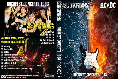 AC DC & Scorpions - Rockfest Concerts (1983)