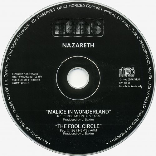 Nazareth - Malice In Wonderland + The Fool Circle (1980,1981) (2000)