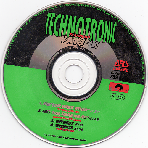 Technotronic feat. Ya Kid K - Hey Yoh, Here We Go (1993)