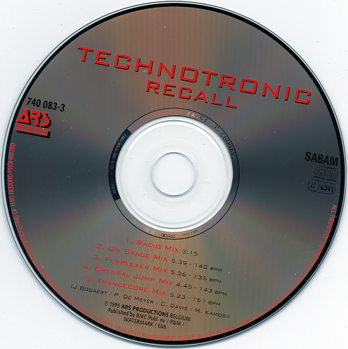 Technotronic feat Ya Kid K - Recall (1995)