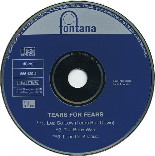 Tears For Fears - Laid So Low (Tears Roll Down) (1992, CD-Single)