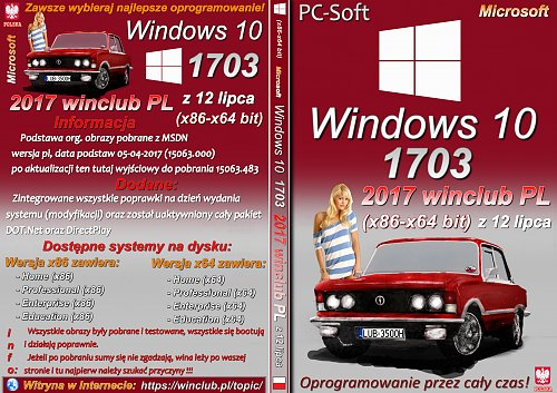 Windows 10 1703 (x86-x64) 2017 winclub PL