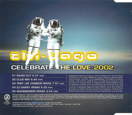Zhi-Vago - Celebrate The Love 2002 (2002)