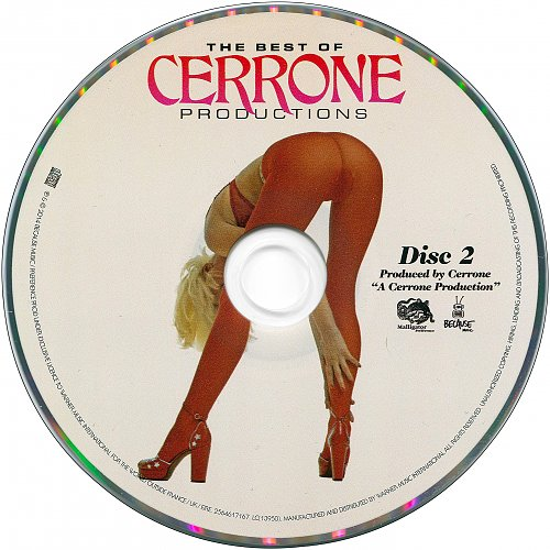 The Best Of Cerrone Productions (2014 Malligator Preference, 2015 Because Music, WMI, France) 2CD