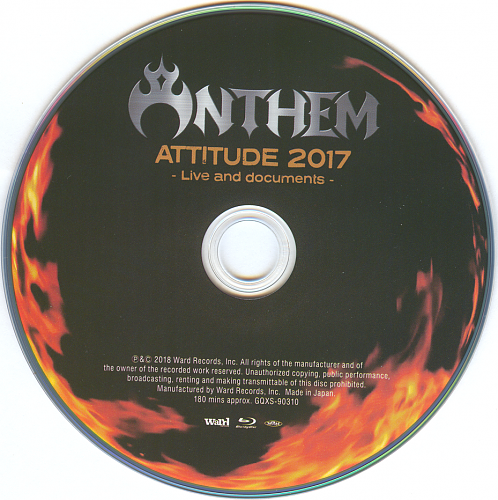 ANTHEM -   Attitude 2017-Live And Documents (2018)