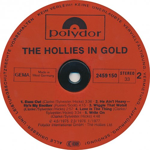 The Hollies - In Gold