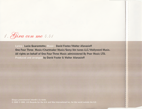Josh Groban - Gira con me (2002, CD-Single)