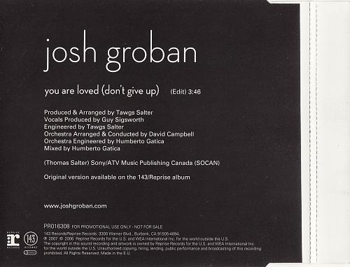Josh Groban - You Are Loved (2007, CD-Single)