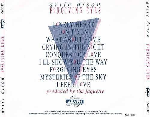 Artie Dison - Forgiving Eyes (1989)