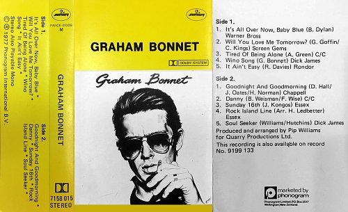 Graham Bonnet - Graham Bonnet (1977 Quarry Production, Phonogram Intern' B.V., Mercury, New Zealand)