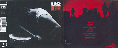 U2 - Desire (1988, CD-Single)