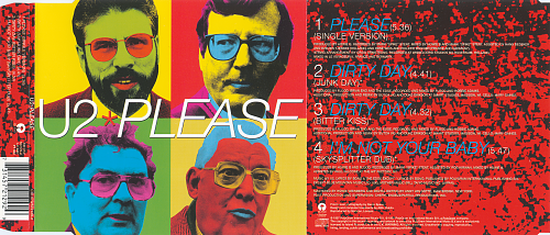 U2 - Please (1997, CD-Single)