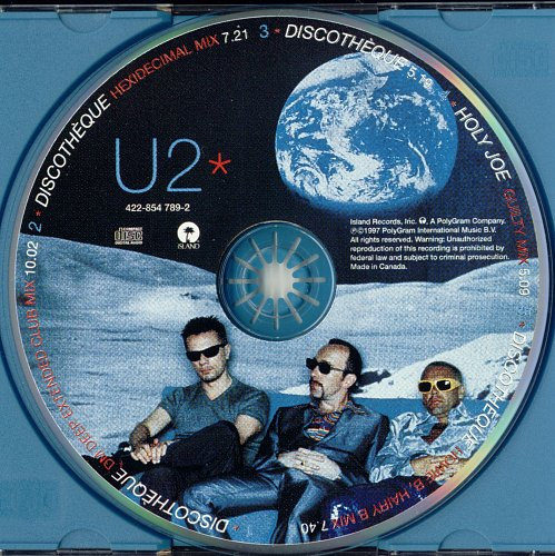 U2 - Discothèque (1997, CD-Single)