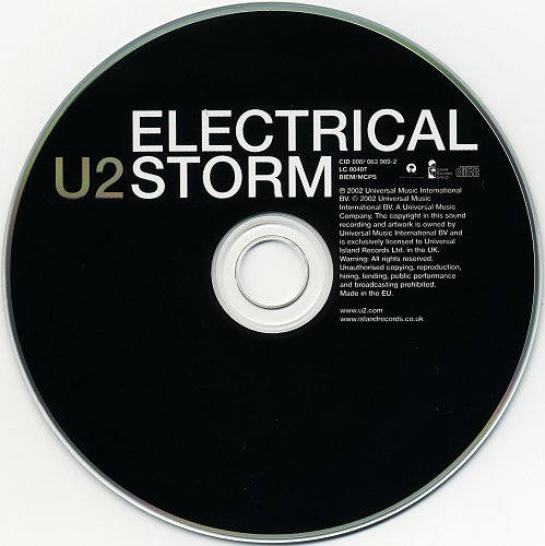 U2 - Electrical Storm (2002, CD-Single)