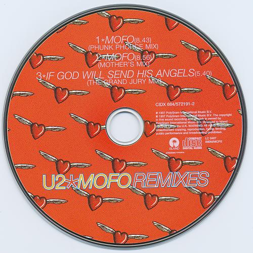 U2 - Mofo Remixes (1997, CD-Single)
