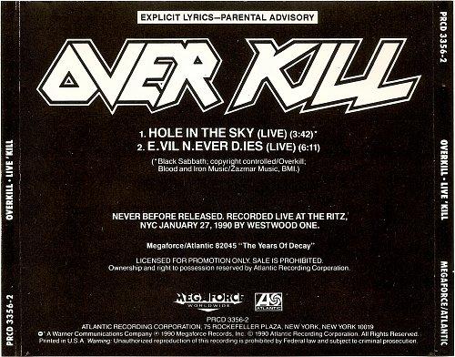 Overkill - Live 'Kill (1990)