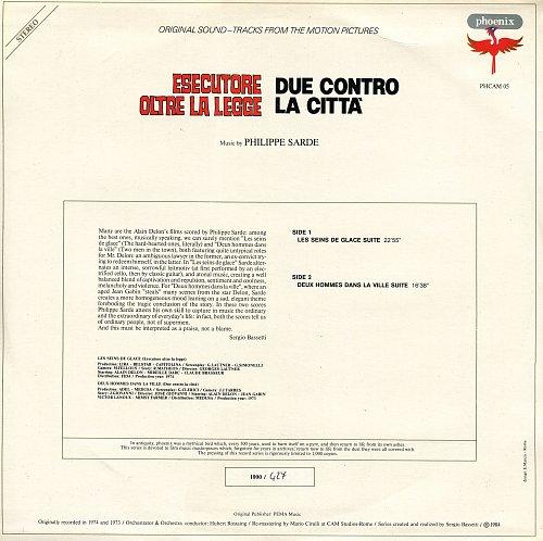 Philippe Sarde - Esecutore Oltre La Legge / Due Contro La Citta' (OST) (1984) [LP Phoenix PHCAM 05]