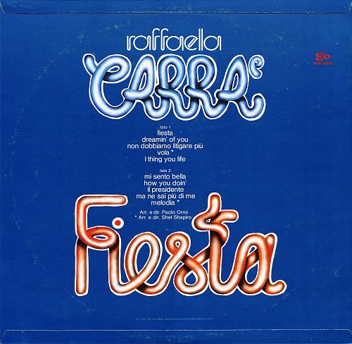 Raffaella Carra - Fiesta (1977) [LP CGD 20018]