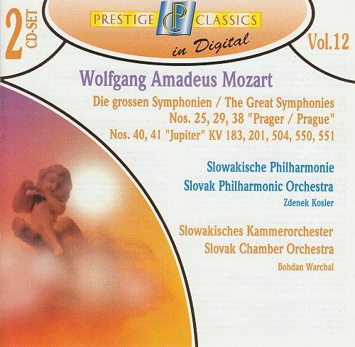 Mozart - Symphonies № 25, 29, 38, 40, 41, (Zdenek Kosler, Bohdan Warchal) - 1995