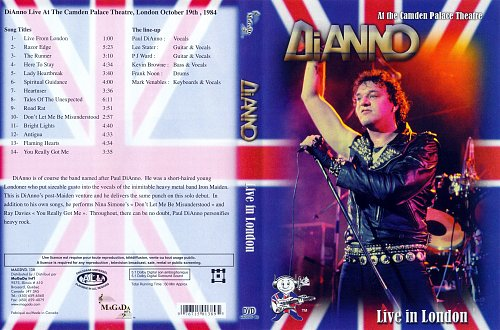 Paul DiAnno - Live In London (1984)