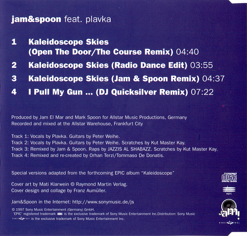 Jam & Spoon feat. Plavka - Kaleidoscope Skies (1997)