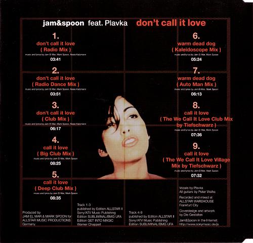 Jam & Spoon feat. Plavka - Don't Call It Love (1998)