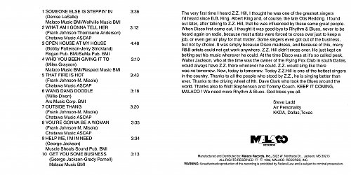 Z.Z. Hill - The Rhythum & The Blues (1982 Malaco Studios, Malaco Records, USA)