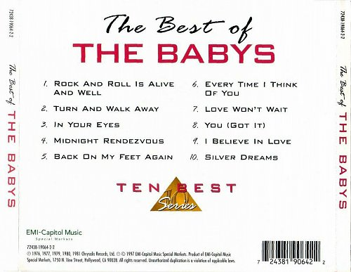 Babys, The - The Best of The Babys (1997)