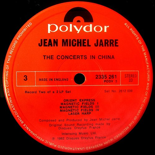 Jean Michel Jarre - The Concerts In China (1982)