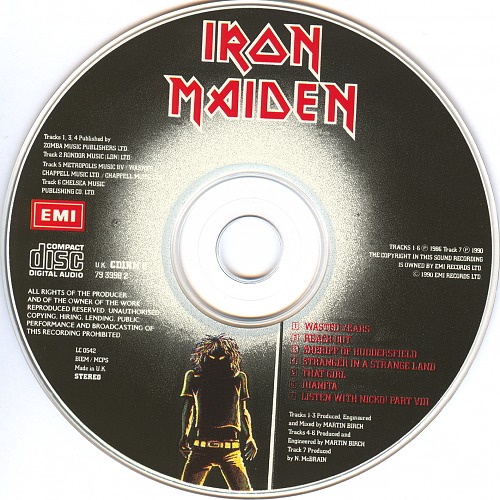 Iron Maiden - Wasted Years · Stranger In A Strange Land (1990)