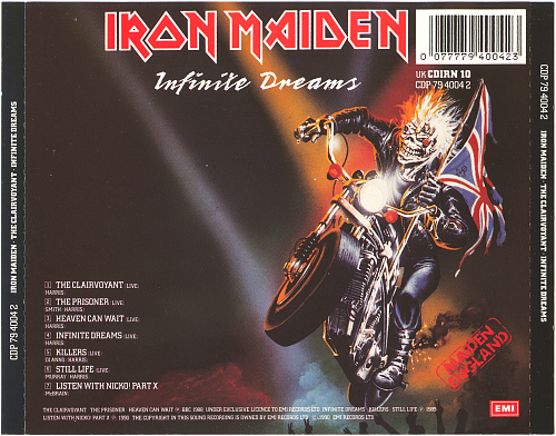 Iron Maiden ‎- The Clairvoyant · Infinite Dreams (1990)