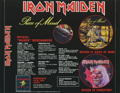 Iron Maiden - Piece Of Mind / Single Collection 1 (2000)