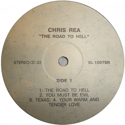 Chris Rea - The Road To Hell (1989/1993) [LP Not On Label BL 1067SR]